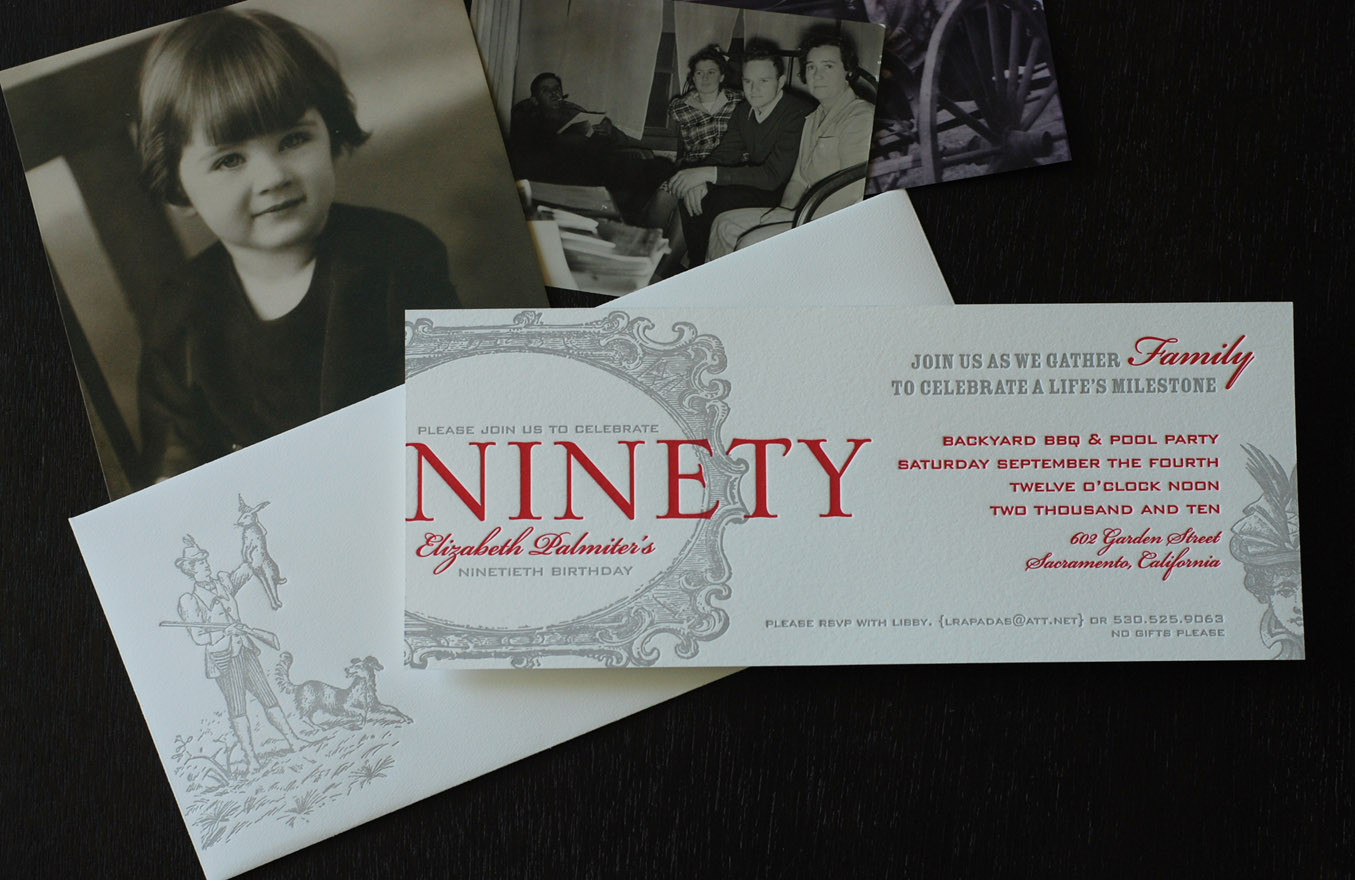 90th Birthday Invitation Wording  90th Birthday Party Invitation