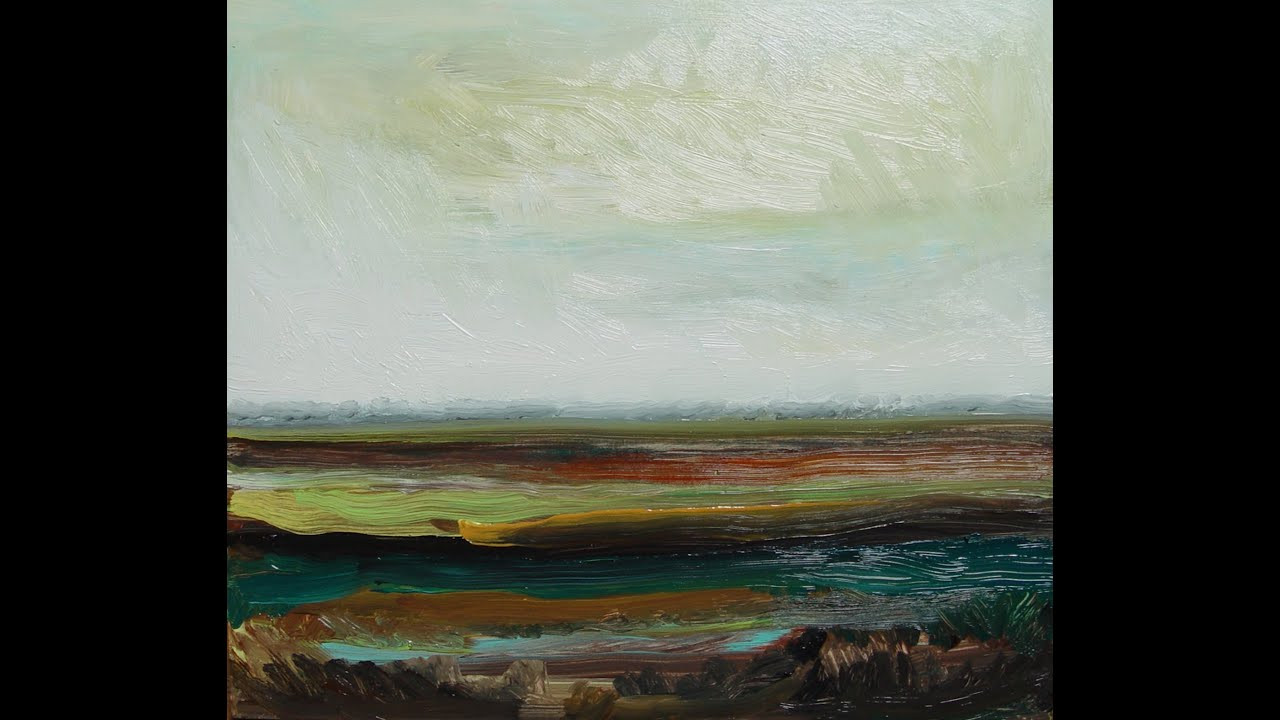Abstract Landscape Paintings  Abstract Landscape painting Demo snel