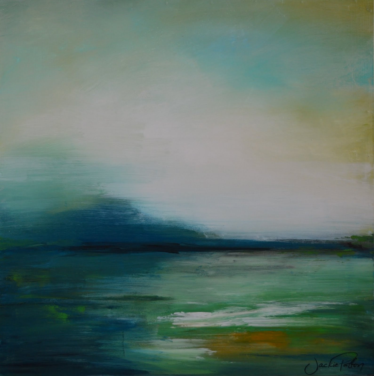 Abstract Landscape Paintings  The Art Girl Jackie 5 Days of Art Part 3 4 & 5