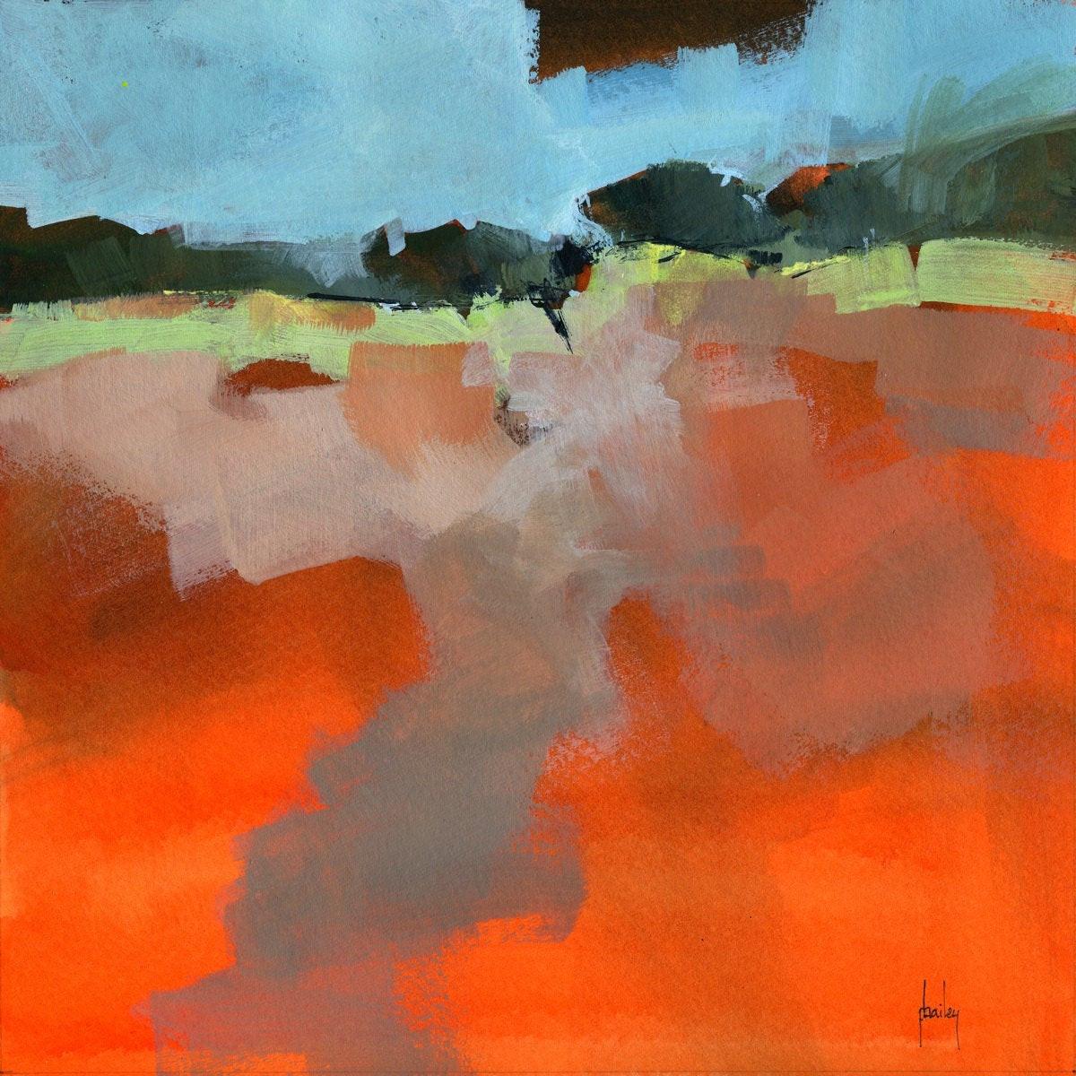 Abstract Landscape Paintings  Original semi abstract landscape painting Early fall