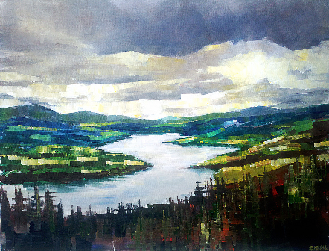 Abstract Landscape Paintings  landscape – Zlatko Music Art