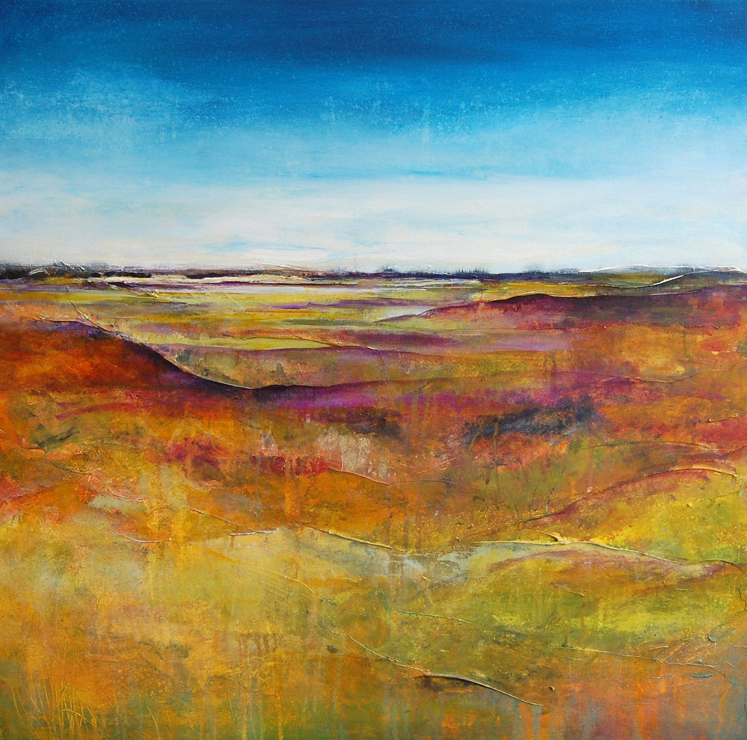 Abstract Landscape Paintings  Abstract Landscape Painting Original Modern Canvas by