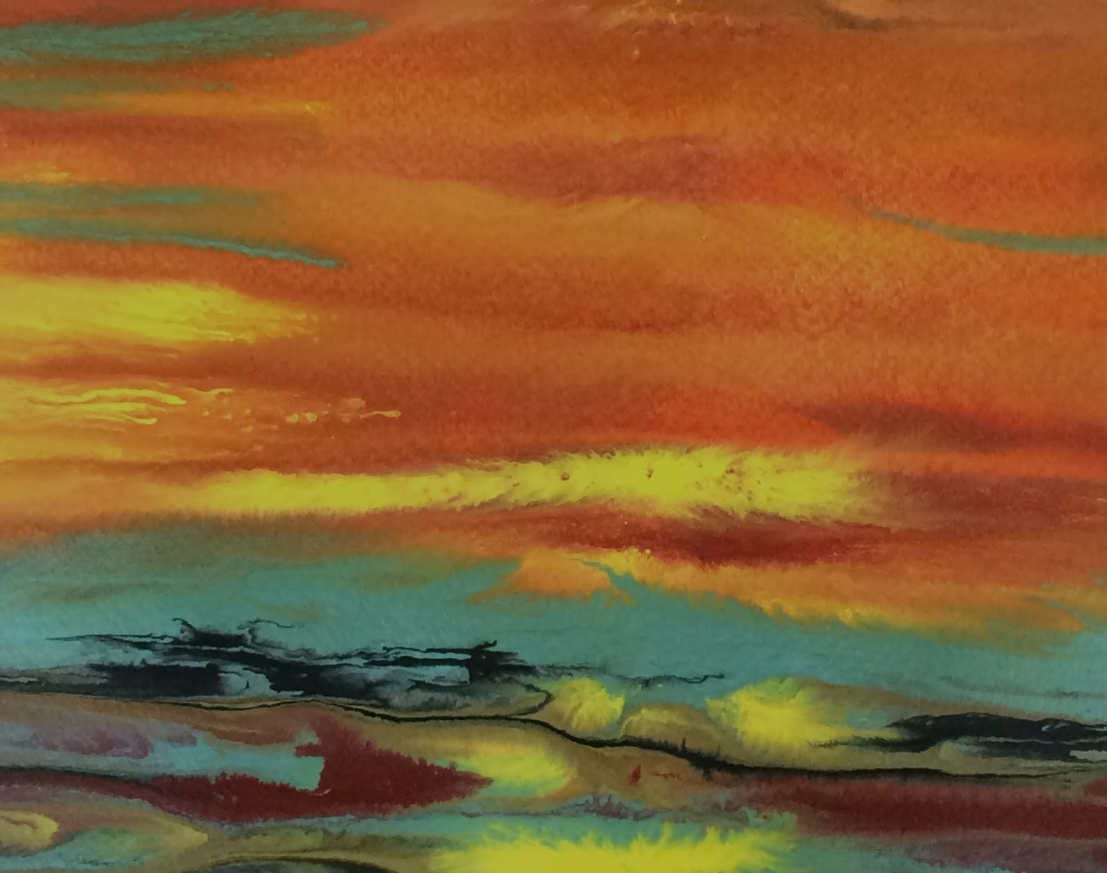 Abstract Landscape Paintings  Daily Painters Abstract Gallery Abstract Landscape Sunset
