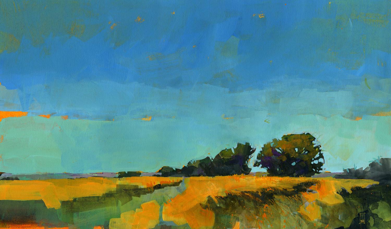 Abstract Landscape Paintings  Original semi abstract landscape painting Oblique