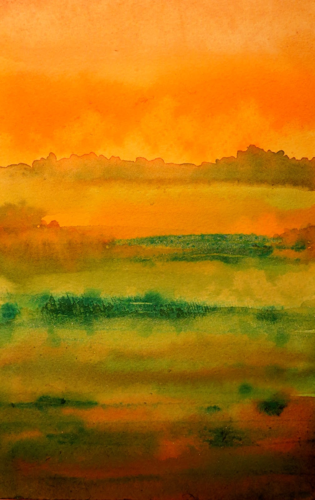 Abstract Landscape Paintings  The Painted Prism WATERCOLOR WORKSHOP Painting an