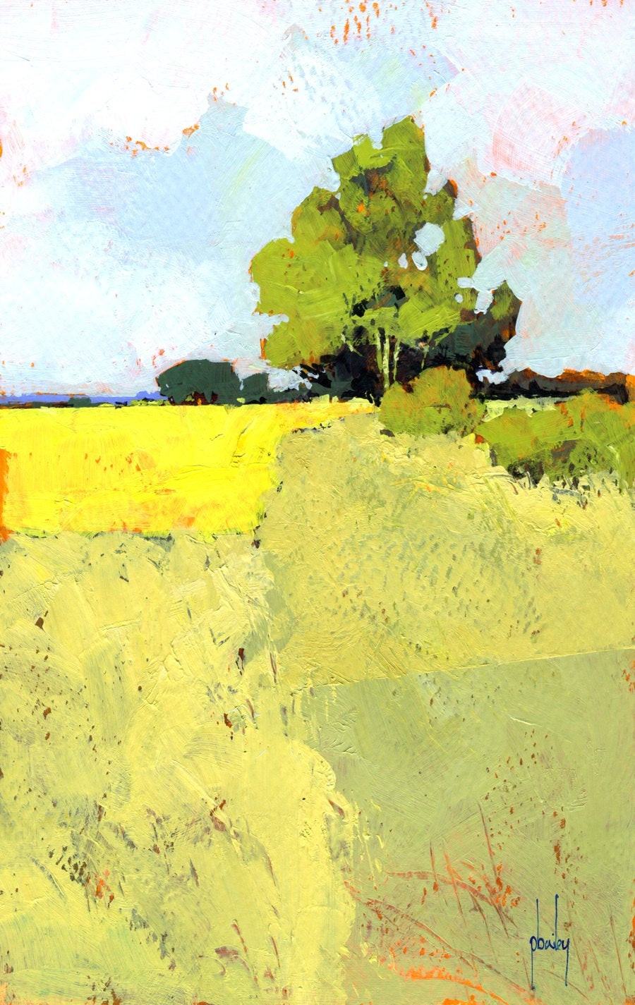 Abstract Landscape Paintings  Semi abstract landscape original painting the way