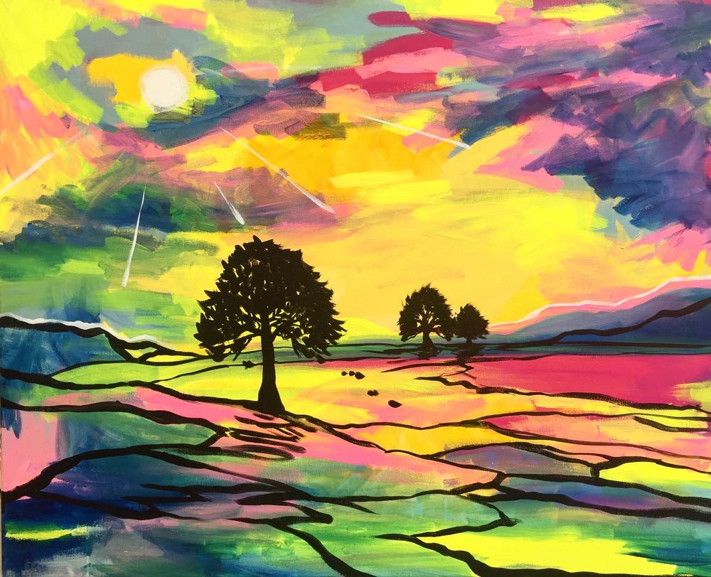 Abstract Landscape Paintings  Abstract Landscapes – Jenny Leonard Art