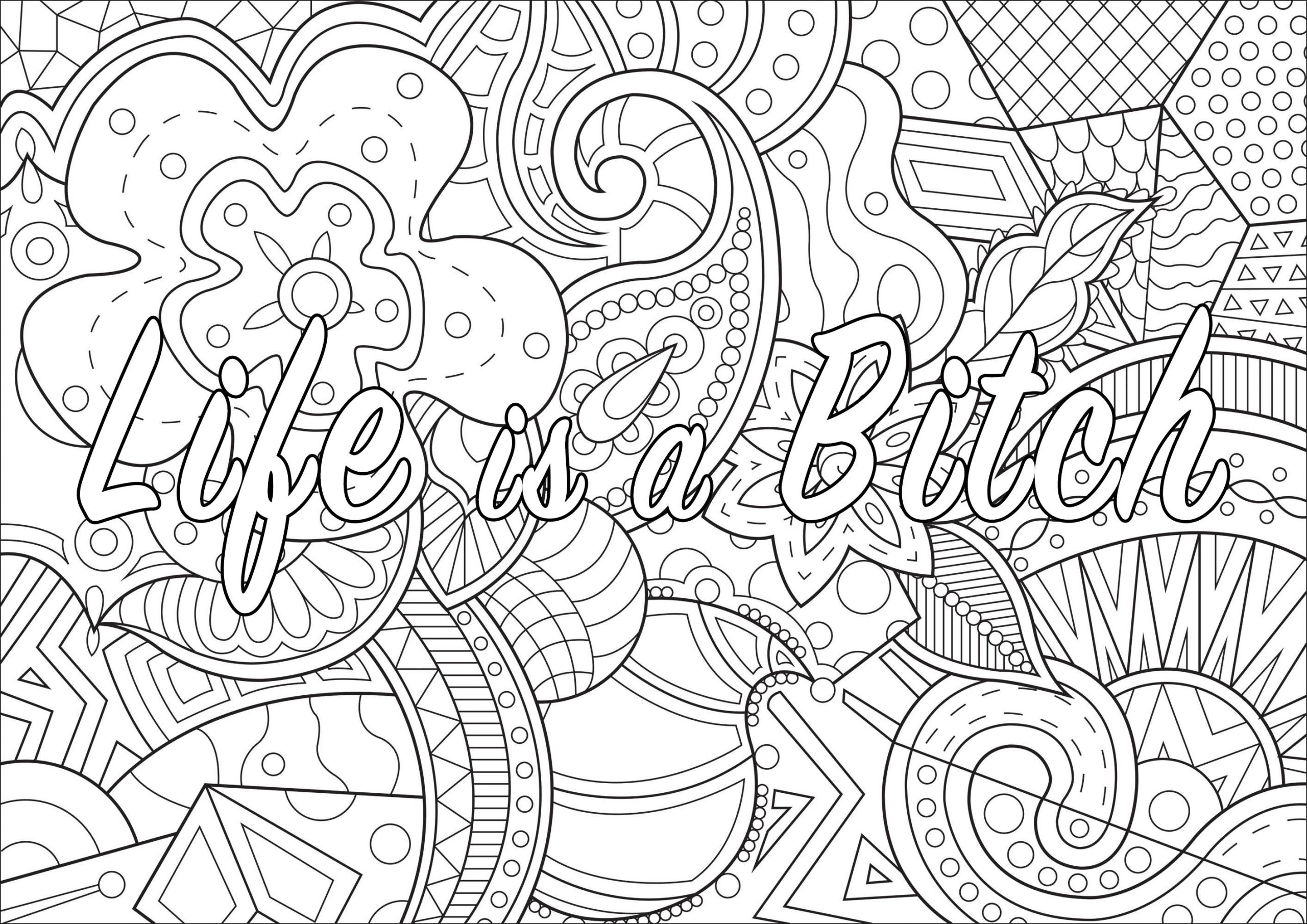 Adult Coloring Pages Swear Words  A Coloring Page santaclarapueb ibrary