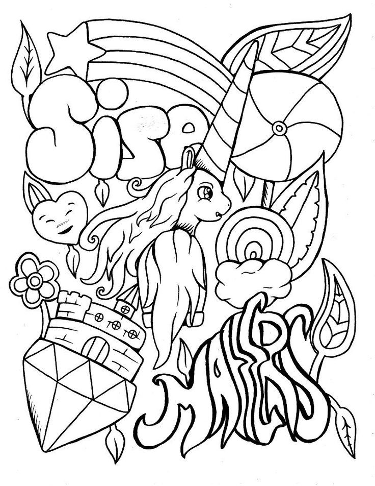 Adult Coloring Pages Swear Words  329 best Swear Word Coloring Pages images on Pinterest