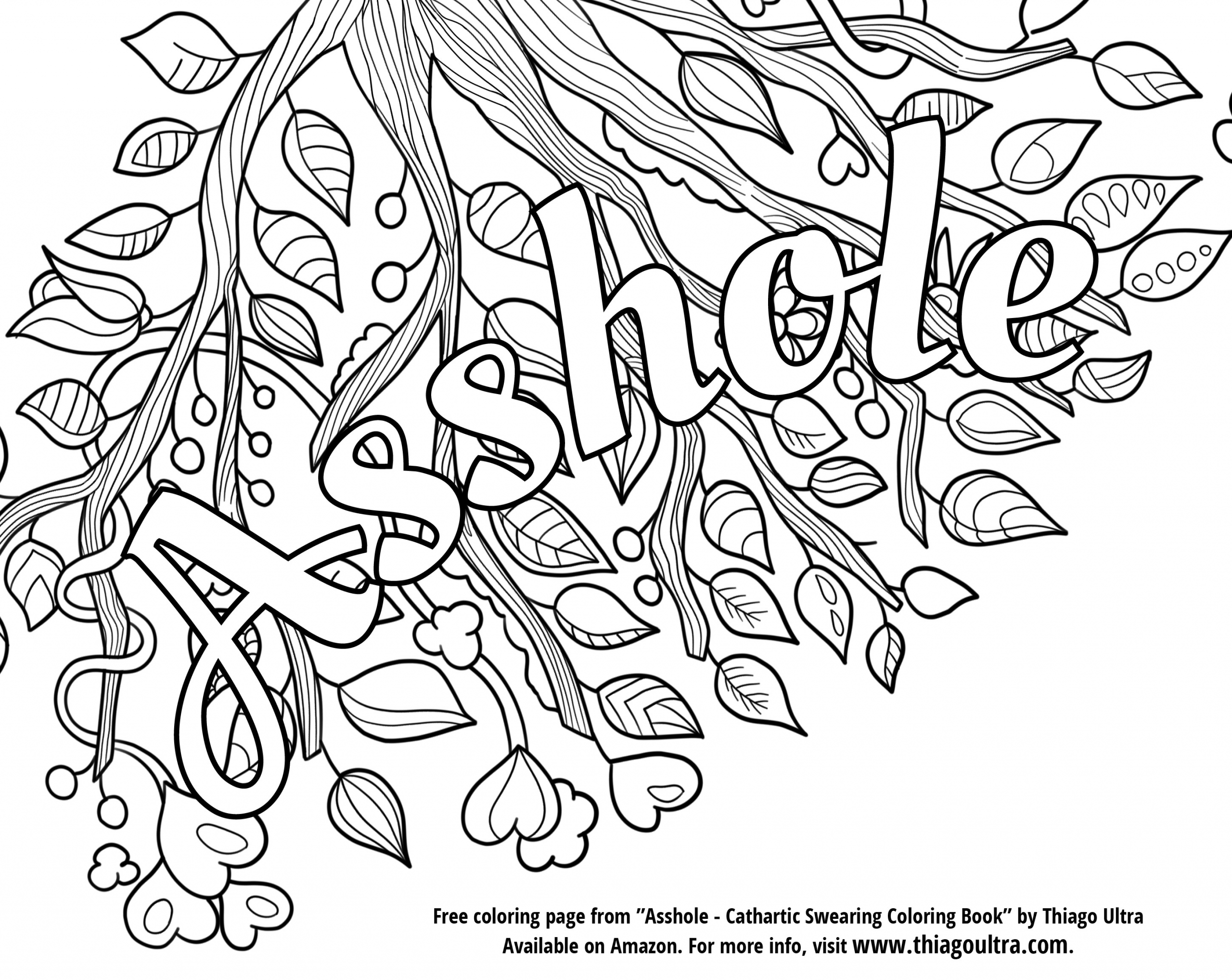 Adult Coloring Pages Swear Words  Swear Word Printable Adult Coloring Pages Sketch Coloring Page