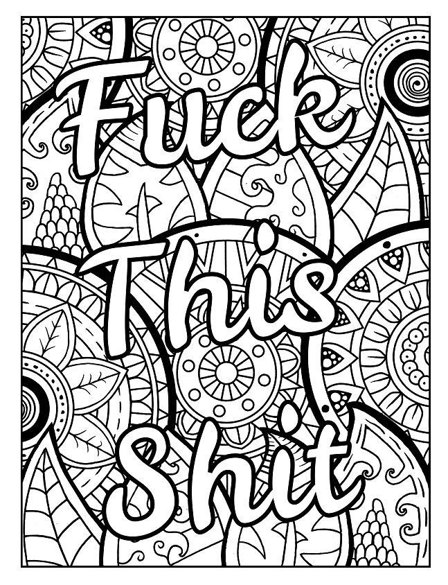 Adult Coloring Pages Swear Words  3 Free Swear Word Coloring Pages Check out these swear