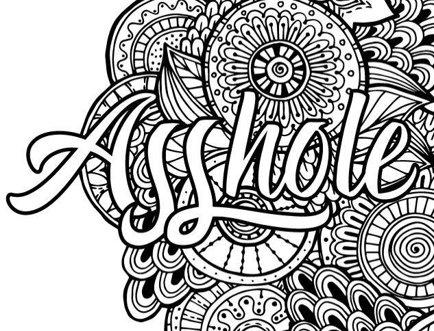 Adult Coloring Pages Swear Words  Best Swear Word Coloring Books a Giveaway