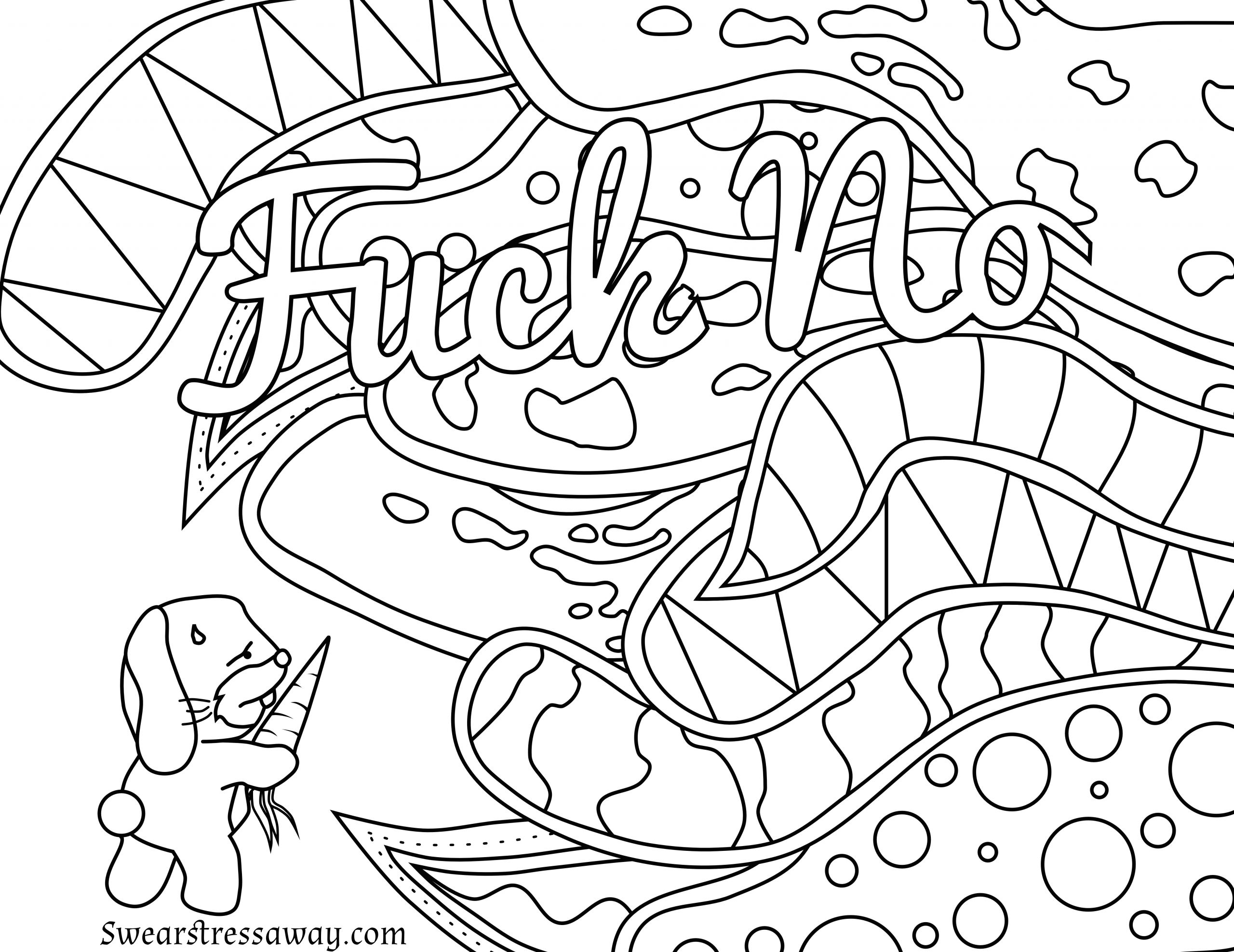 Adult Coloring Pages Swear Words  Swear Word Coloring Pages Printable at GetColorings