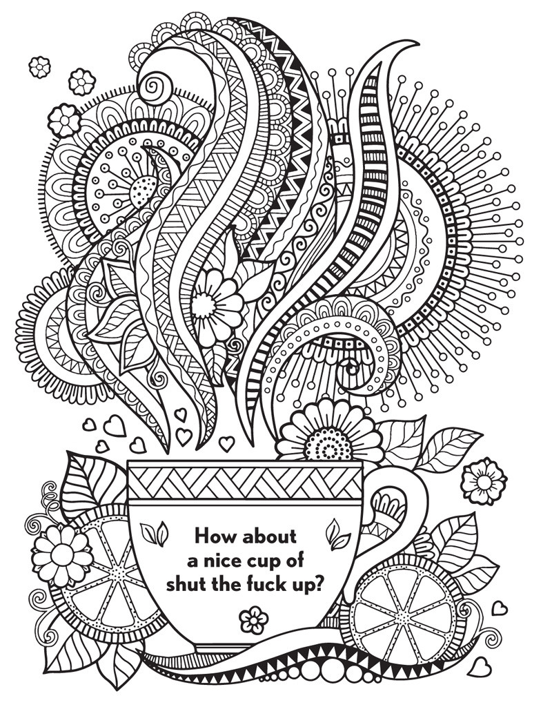 Adult Coloring Pages Swear Words  The Swear Word Coloring Book Hannah Caner