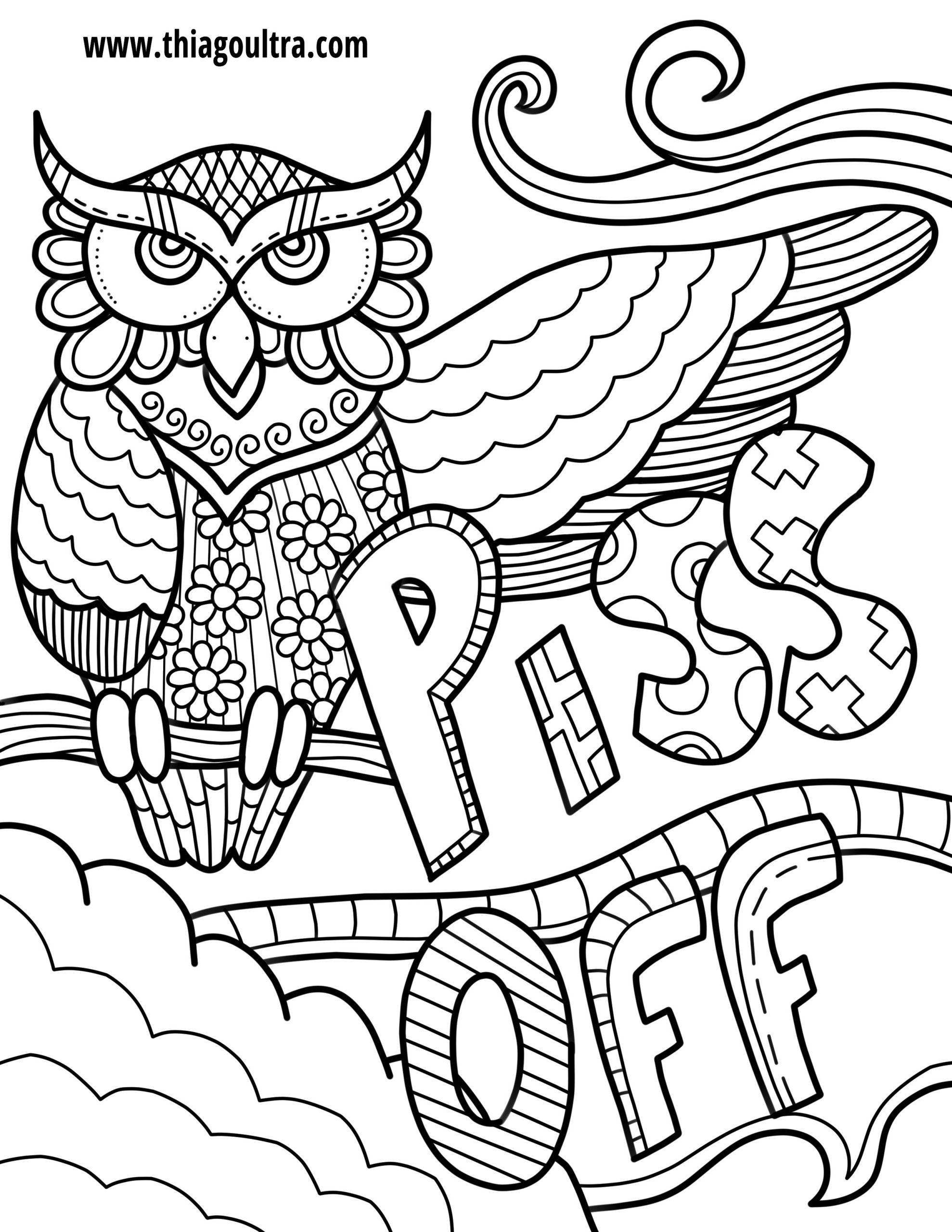 Adult Coloring Pages Swear Words  Adult Swear Coloring Pages at GetDrawings