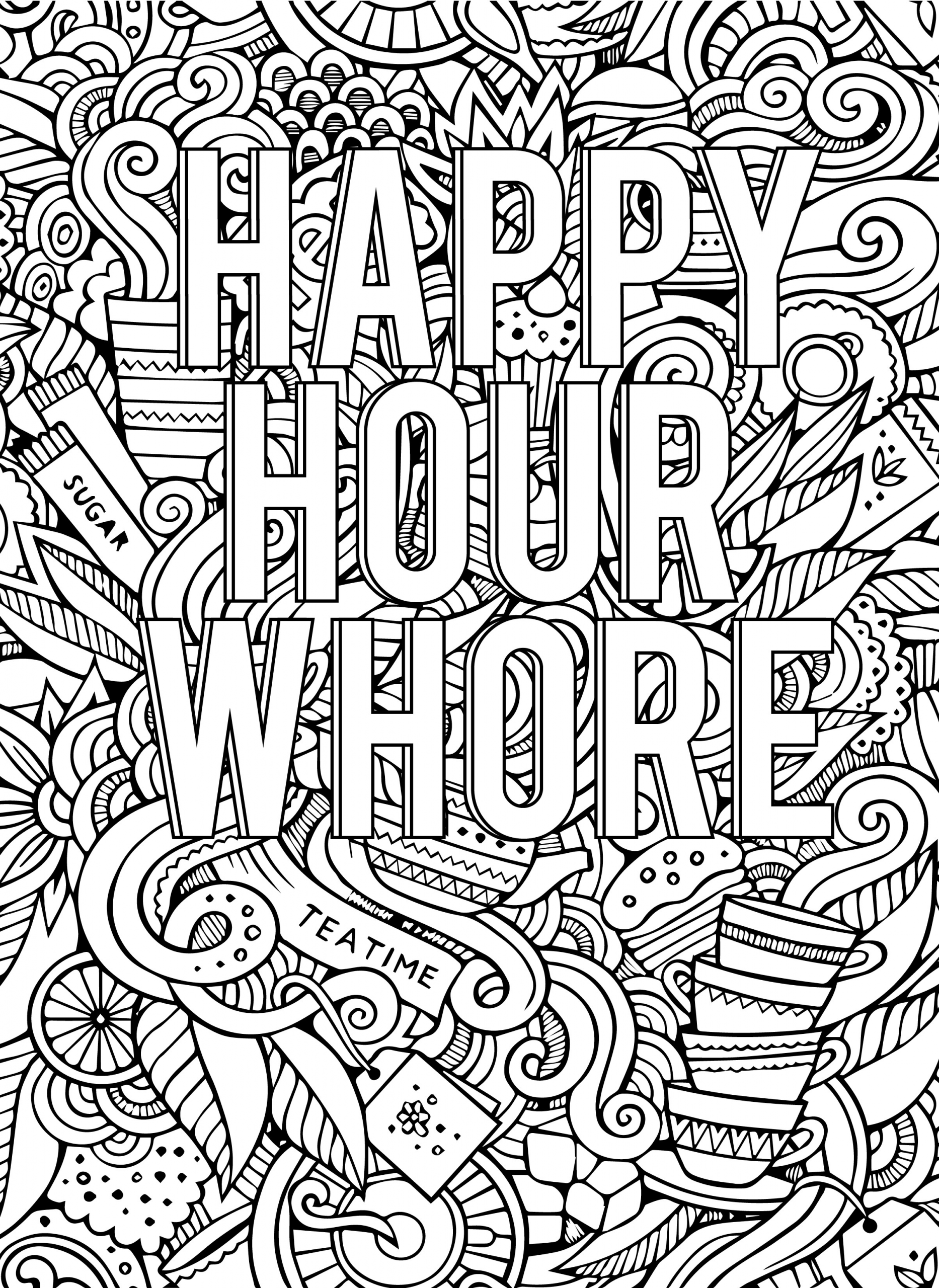 Adult Coloring Pages Swear Words  Cannabis Fantasy Cool Coloring Book Pages