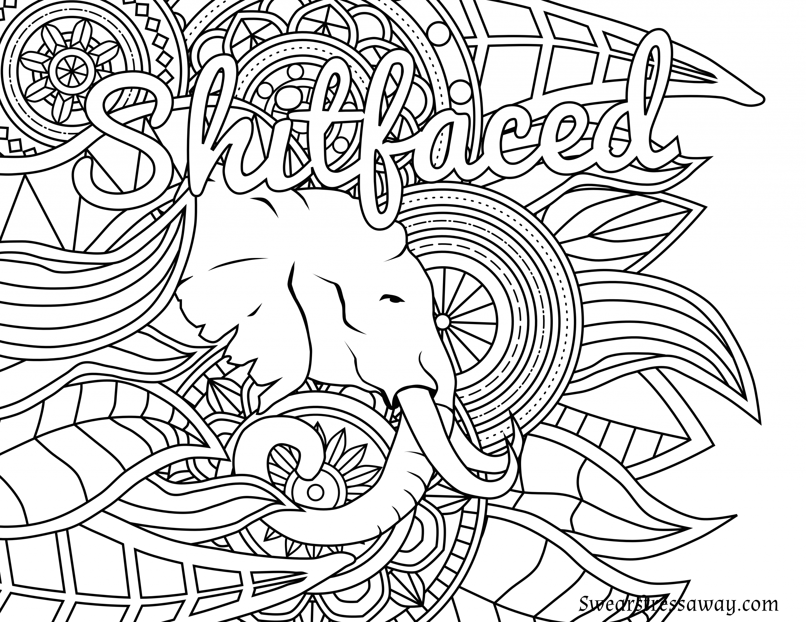 Adult Coloring Pages Swear Words  Free Adult Swear Word Coloring Pages