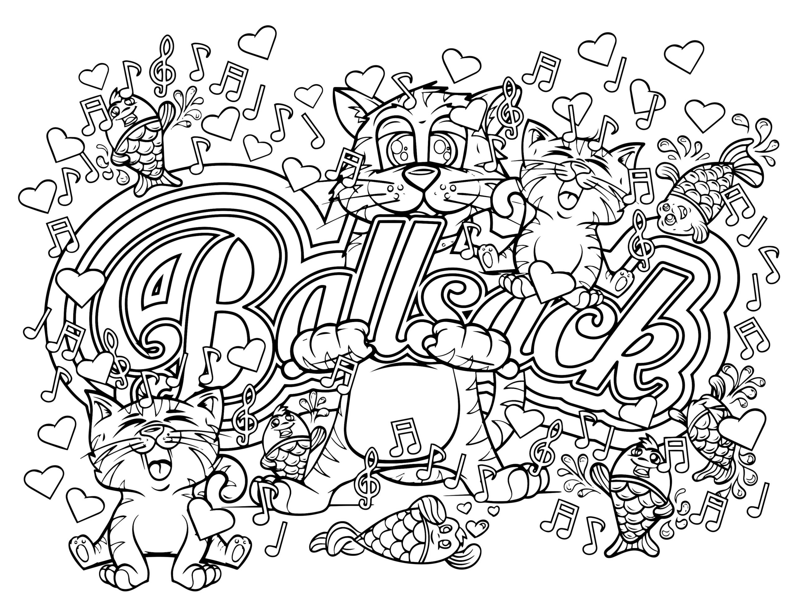 Adult Coloring Pages Swear Words  Swear Word Coloring Pages at GetColorings