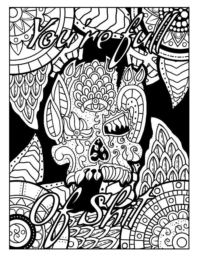 Adult Coloring Pages Swear Words  641 best Swear Word Coloring Pages images on Pinterest