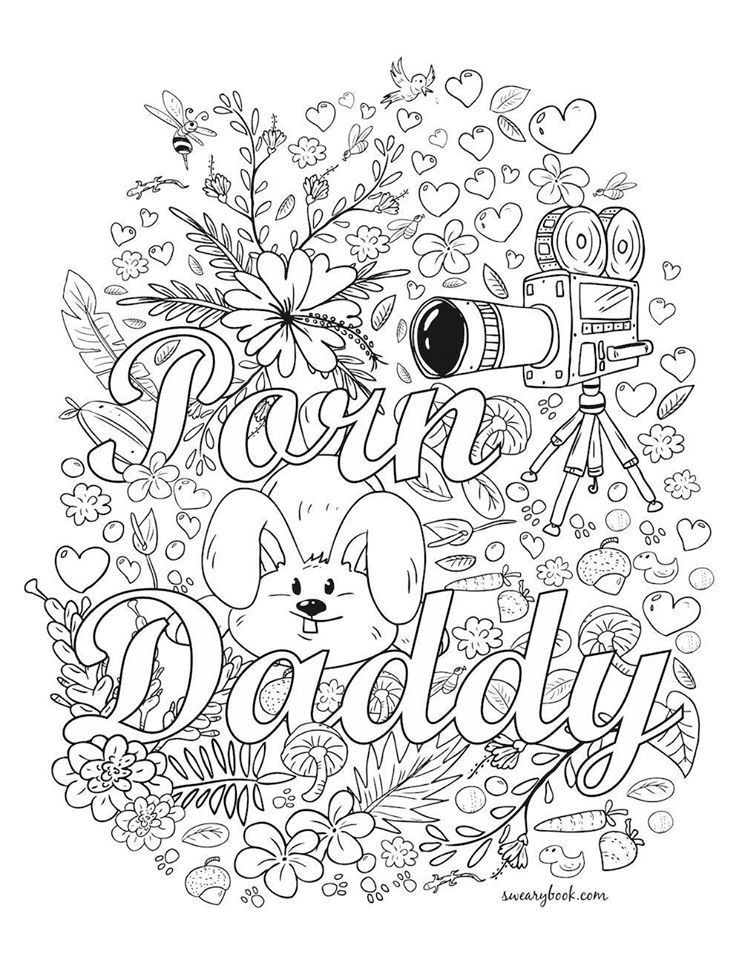 Adult Swear Coloring Pages  Swear Words
