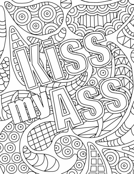 Adult Swear Coloring Pages  759 best Words Coloring Pages for Adults images on