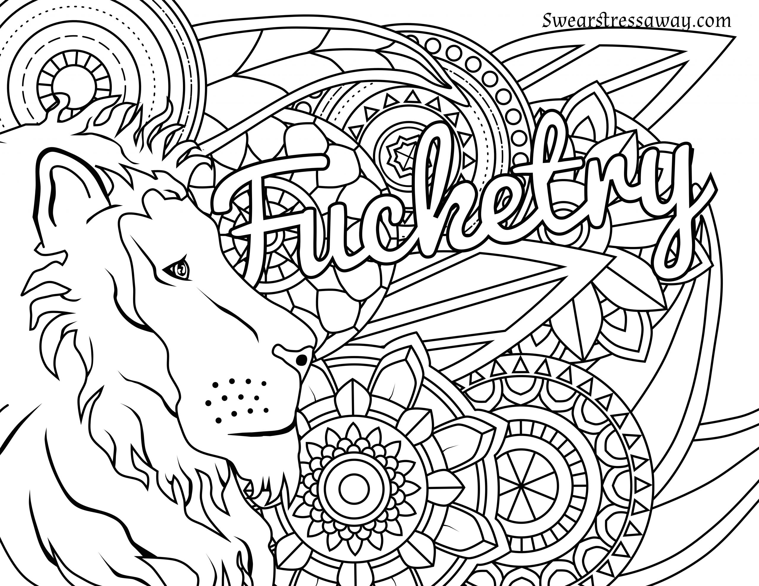 Adult Swear Coloring Pages  Curse Word Coloring Pages Printable at GetColorings