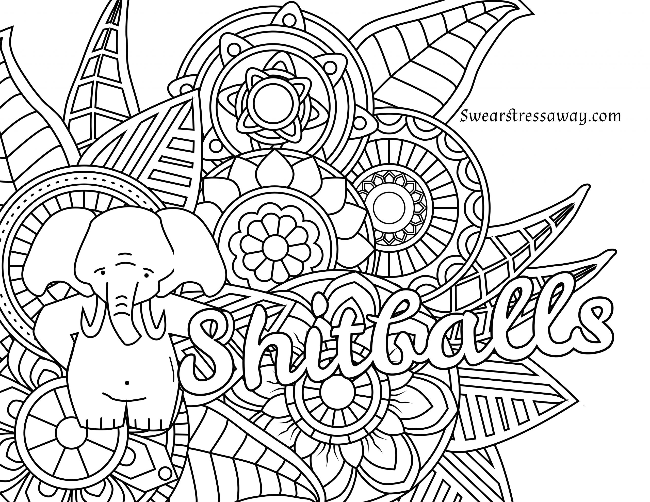 Adult Swear Coloring Pages  Curse Word Free Coloring Pages
