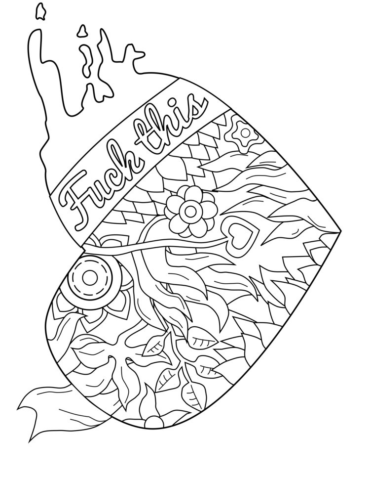 Adult Swear Coloring Pages  Free Coloring Pages For Adults ly at GetColorings