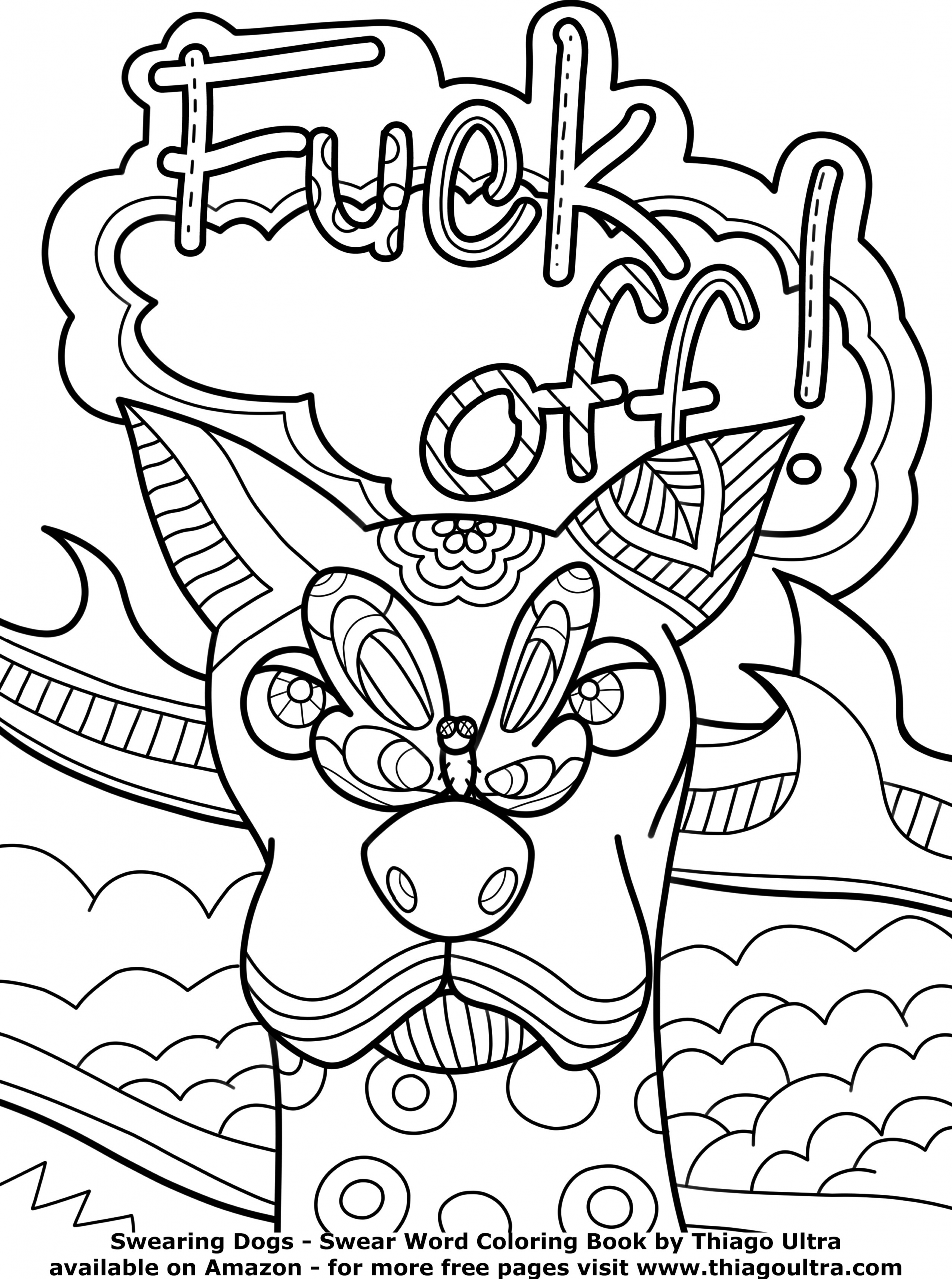 Adult Swear Coloring Pages  Coloring Pages Cuss Words at GetDrawings