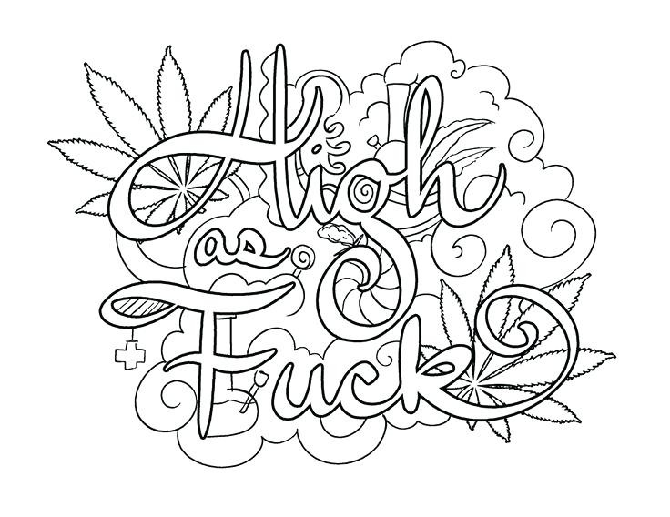 Adult Swear Coloring Pages  Coloring Pages For Adults Words at GetColorings