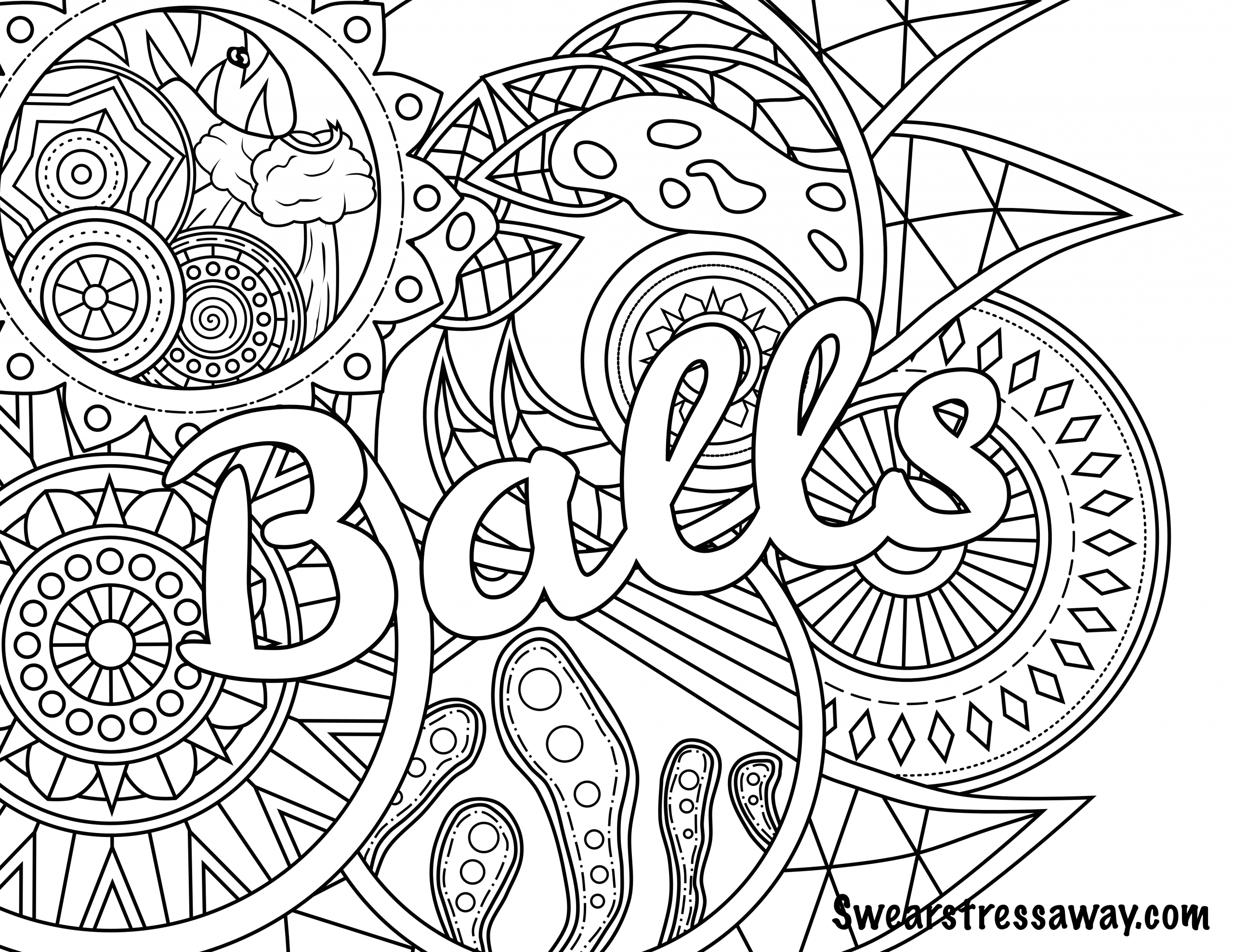 Adult Swear Coloring Pages  The Best Ideas for Coloring Pages for Adults Words Best