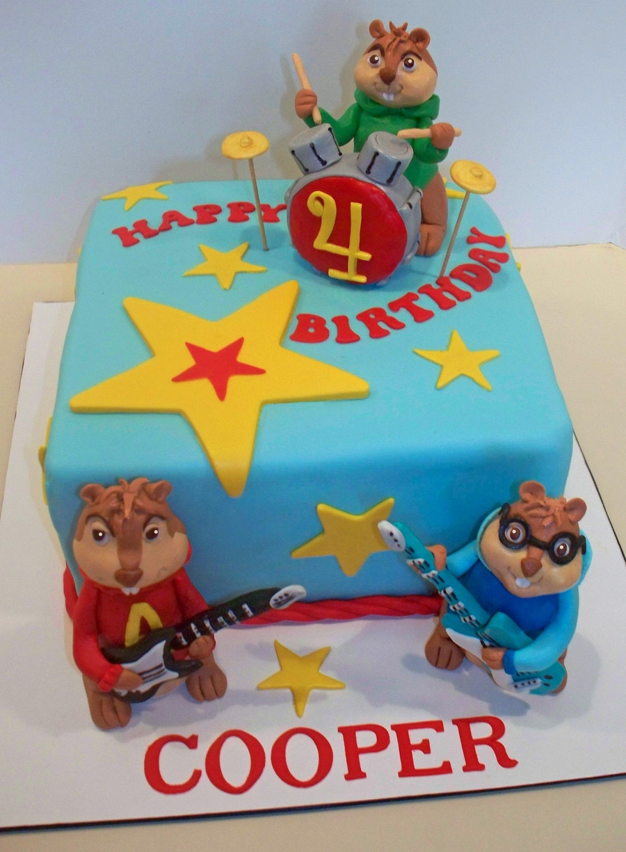 Alvin And The Chipmunks Birthday Cake  Alvin And The Chipmunks Cake CakeCentral