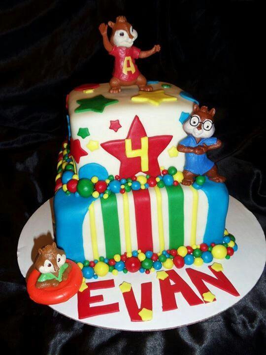 Alvin And The Chipmunks Birthday Cake  Alvin and the Chipmunk birthday cake Cakes