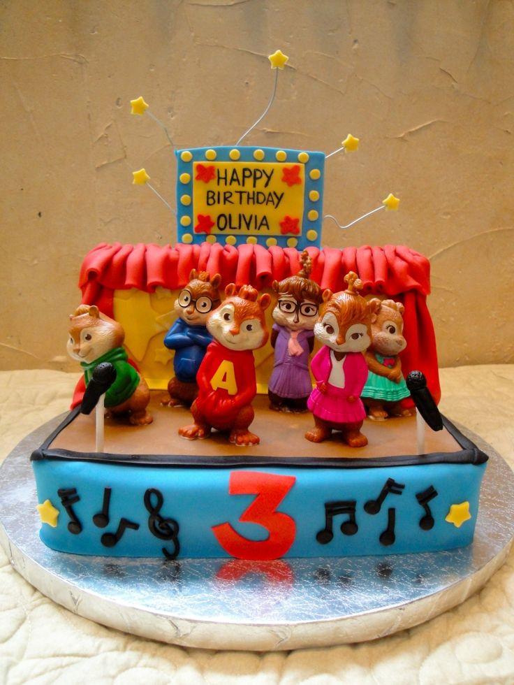 Alvin And The Chipmunks Birthday Cake  Alvin and the Chipmunks stage cake love the curtain