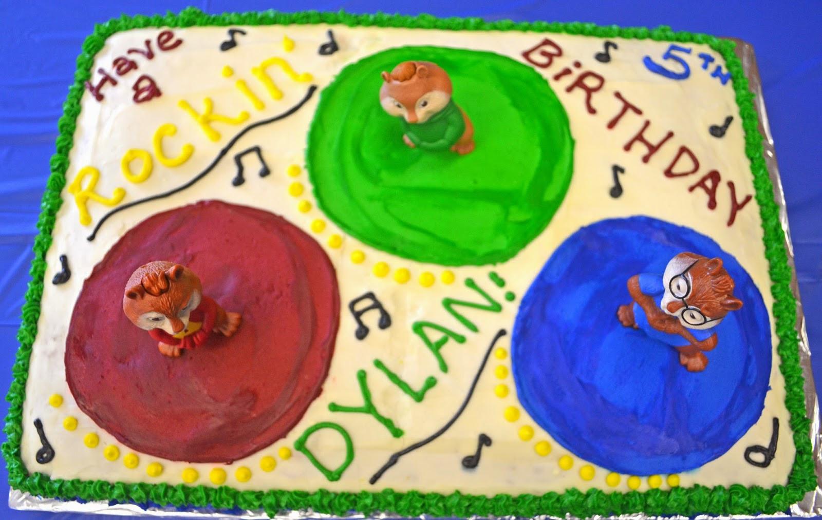 Alvin And The Chipmunks Birthday Cake  Affordable Cakes by Tiffany Alvin and the Chipmunks Cake