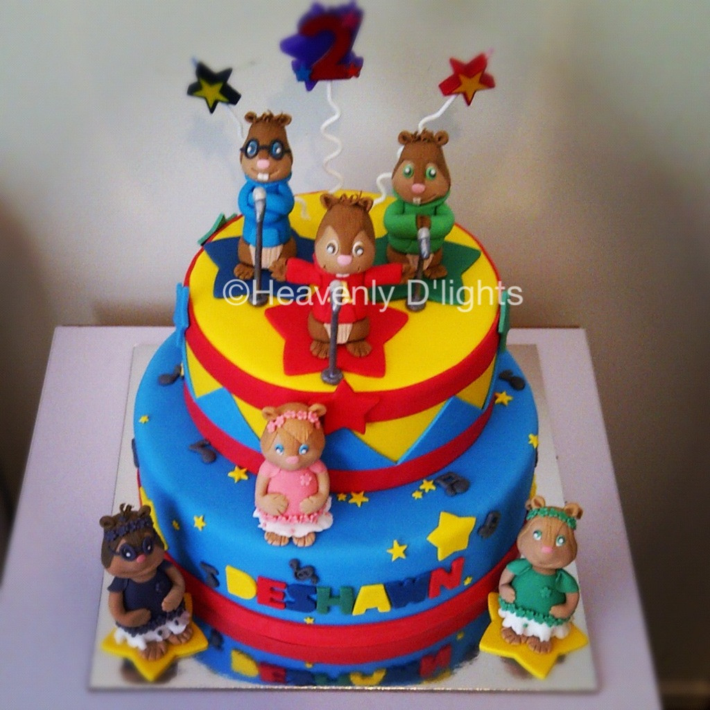 Alvin And The Chipmunks Birthday Cake  Heavenly D lights Alvin and The Chipmunks Birthday Cake