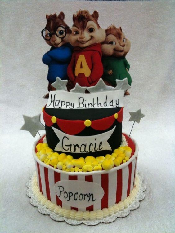 Alvin And The Chipmunks Birthday Cake  Alvin and Chipmunks Birthday Cake Ideas