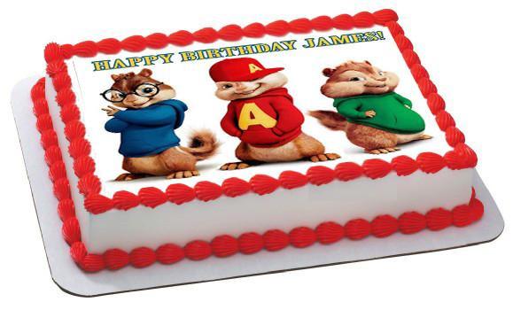 Alvin And The Chipmunks Birthday Cake  ALVIN AND THE CHIPMUNKS Edible Cake Topper Cupcake