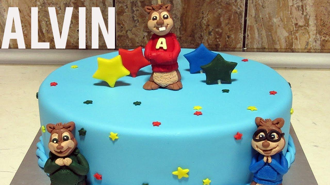 Alvin And The Chipmunks Birthday Cake  Birthday Cake Alvin And The Chipmunks Step by step