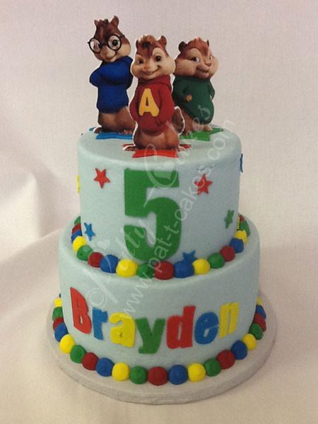 Alvin And The Chipmunks Birthday Cake  Chipmunks 01 – Patty Cakes – Highland IL