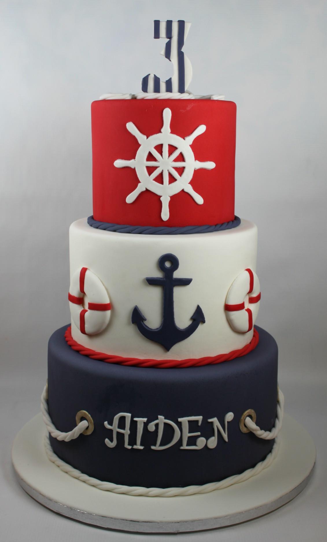 Anchor Birthday Cakes  Nautical Birthday Cake