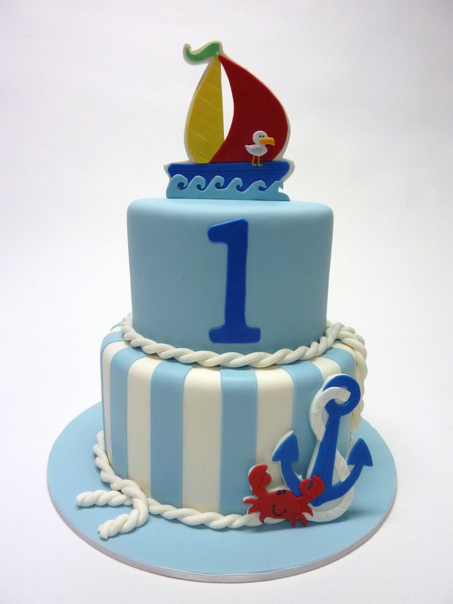 Anchor Birthday Cakes  Nautical 1St Birthday CakeCentral