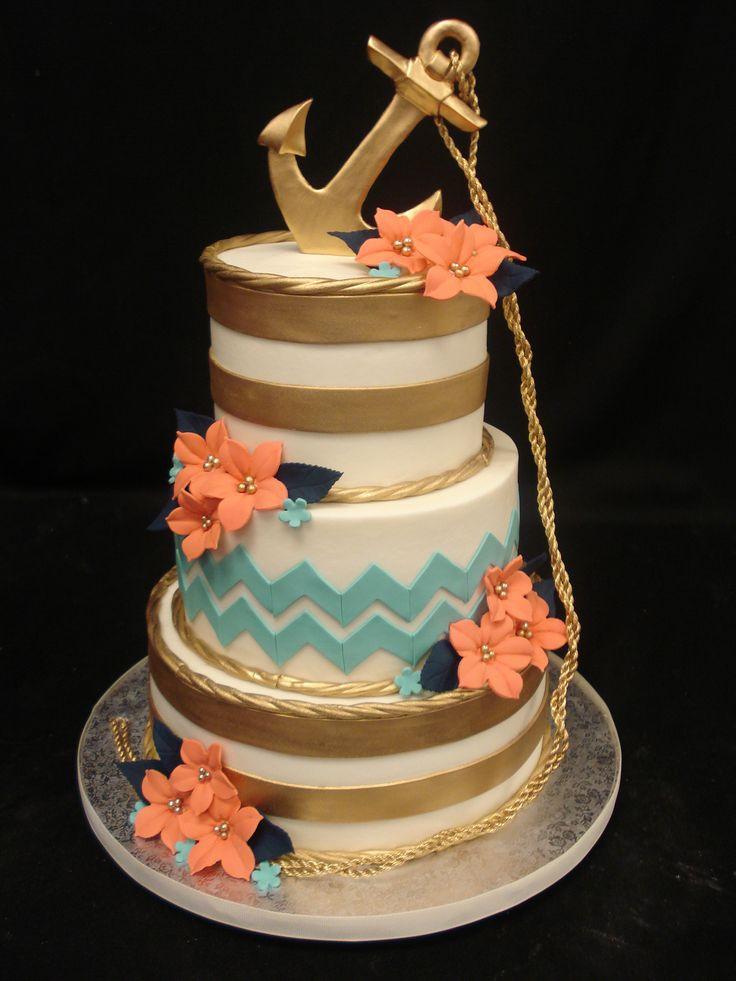 Anchor Birthday Cakes  The 25 best Anchor birthday cakes ideas on Pinterest