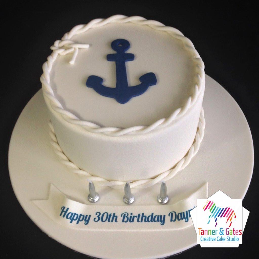 Anchor Birthday Cakes  Anchor Nautical Birthday Cake – Tanner & Gates