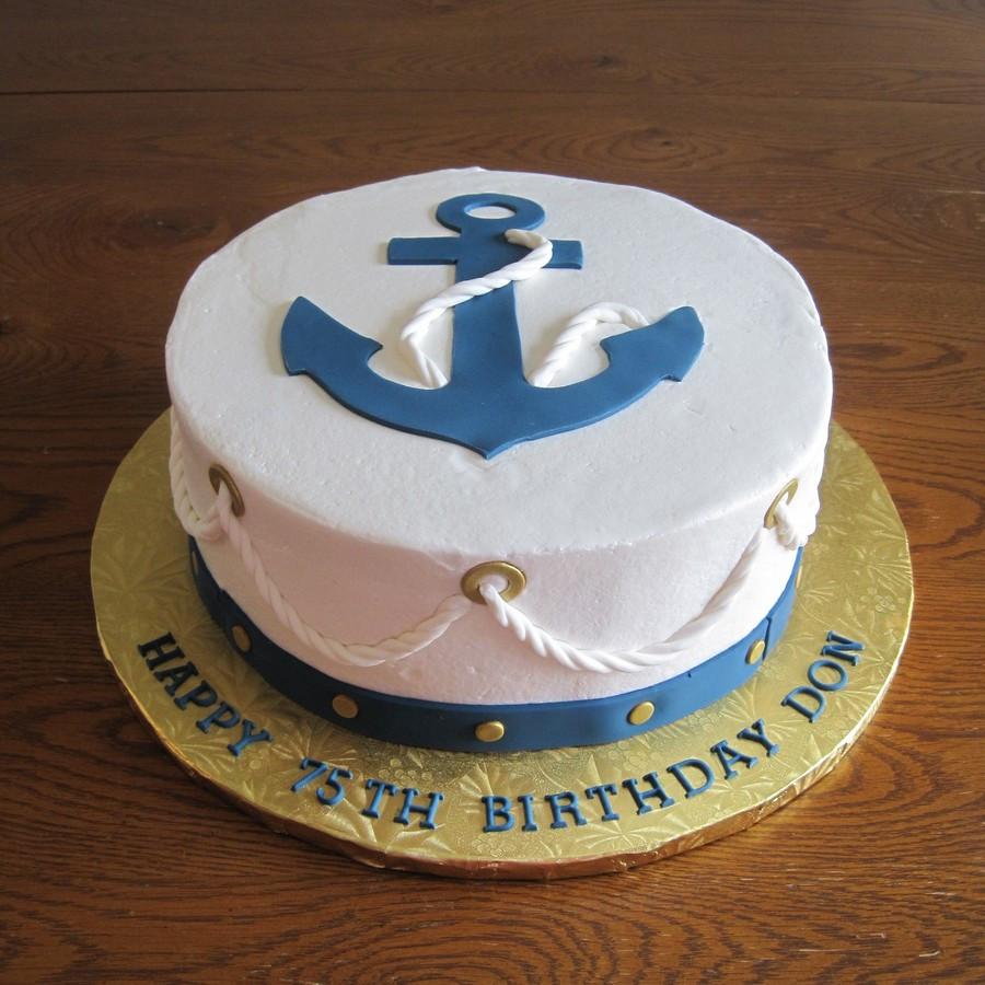Anchor Birthday Cakes  Nautical Anchor Cake CakeCentral