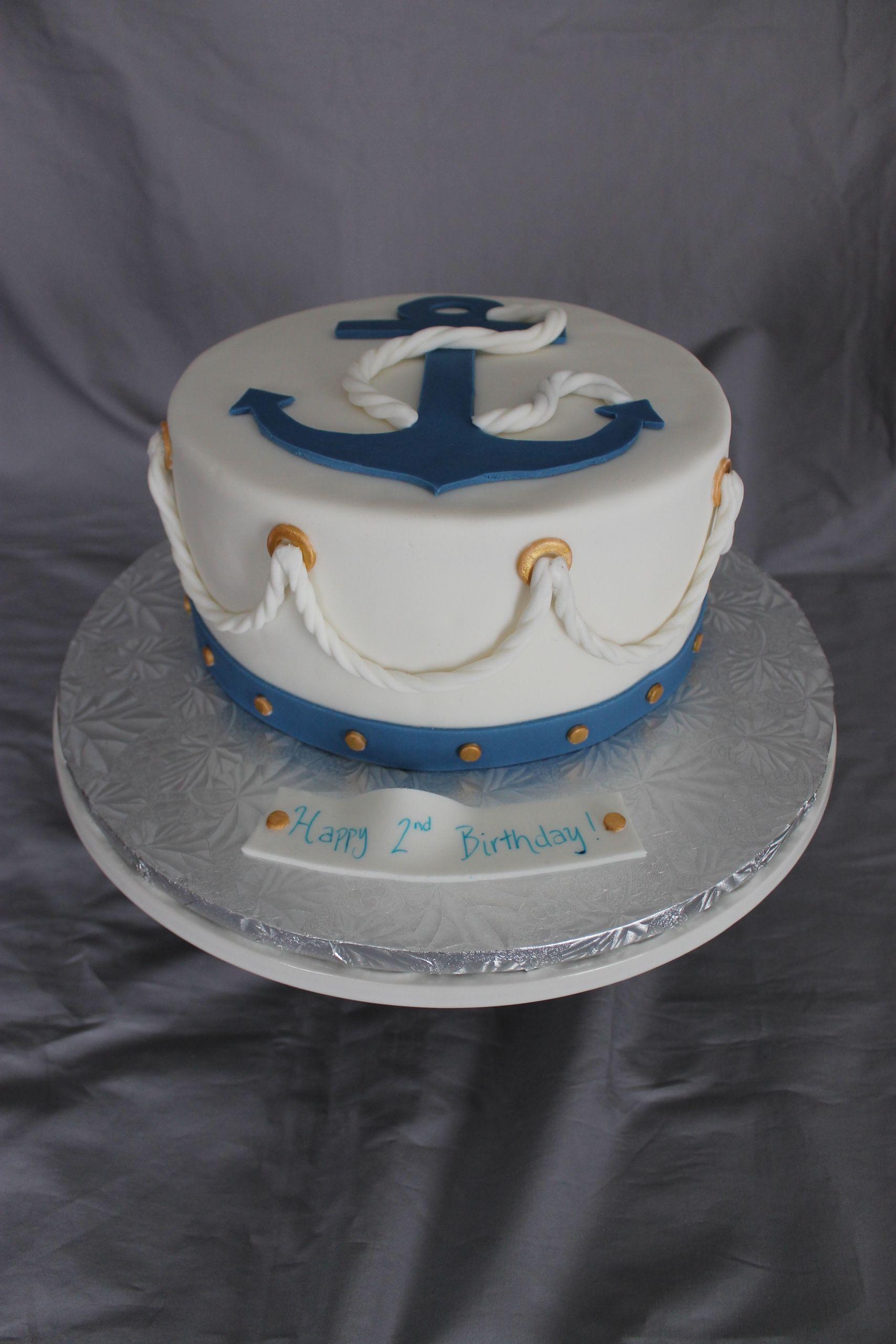 Anchor Birthday Cakes  Nautical Themed Birthday Cake CakeCentral