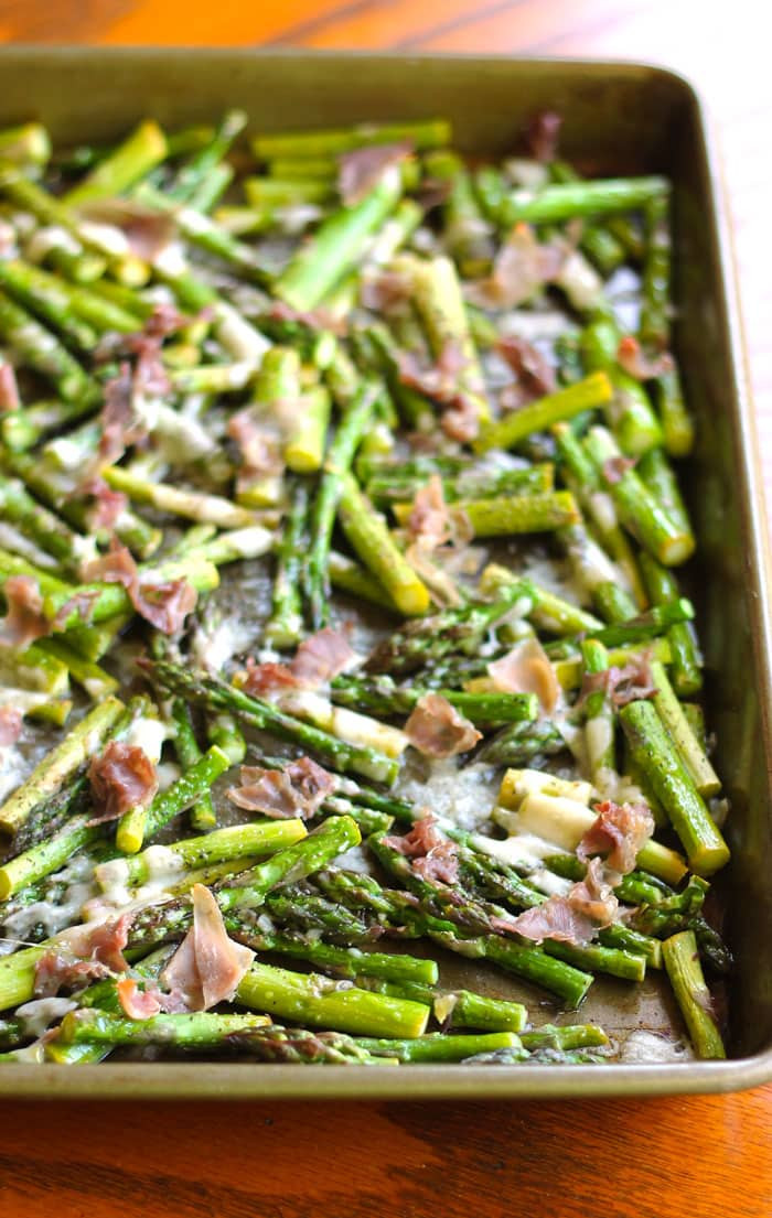 Asparagus Side Dishes  Prosciutto and Parmesan Baked Asparagus Smile Sandwich