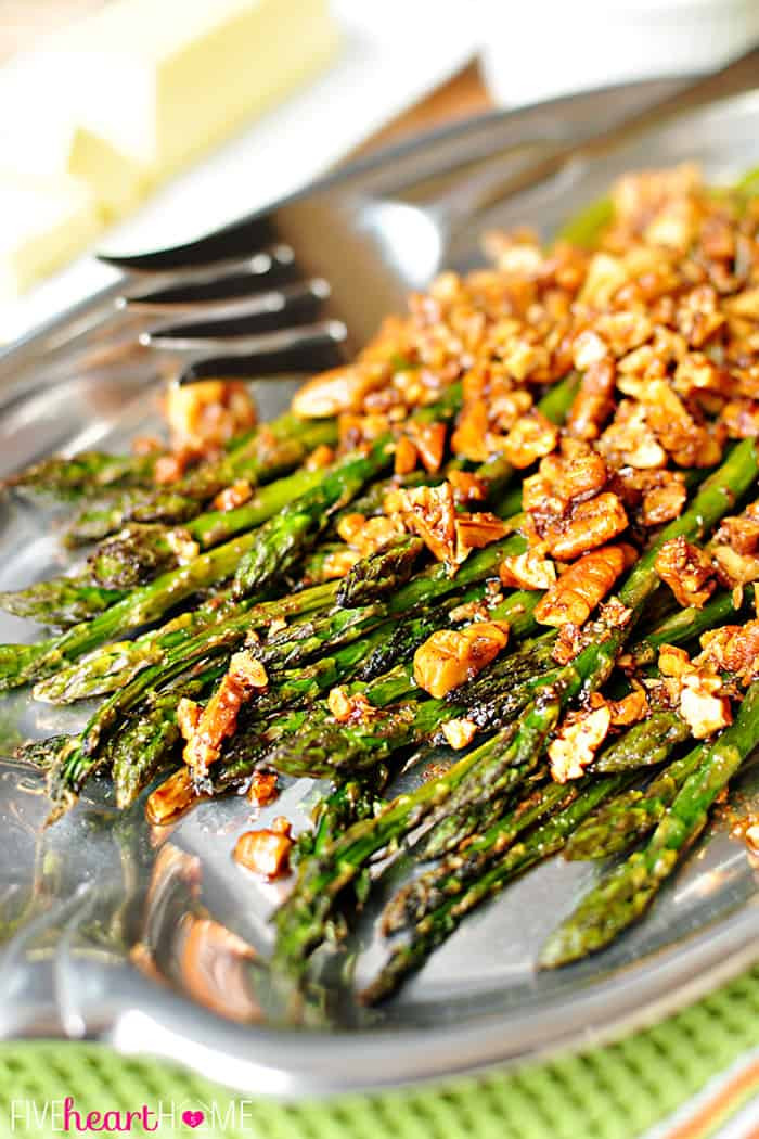 Asparagus Side Dishes  Roasted Asparagus with Brown Butter Pecans
