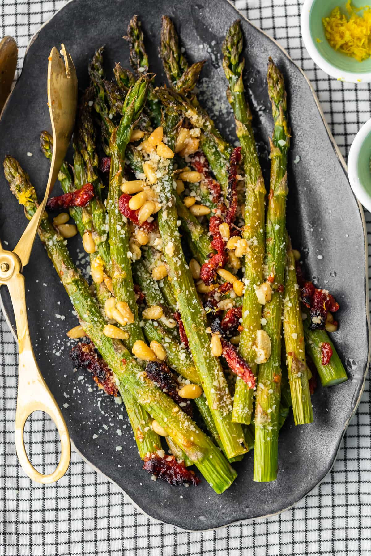 Asparagus Side Dishes  Oven Roasted Asparagus with Sun Dried Tomatoes VIDEO