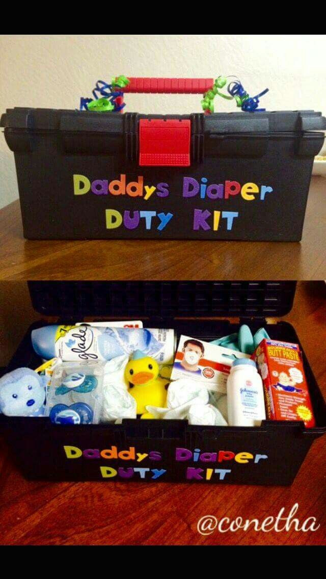 Baby Shower Gift Ideas For Mom And Dad  Daddy s Diaper Duty Kit